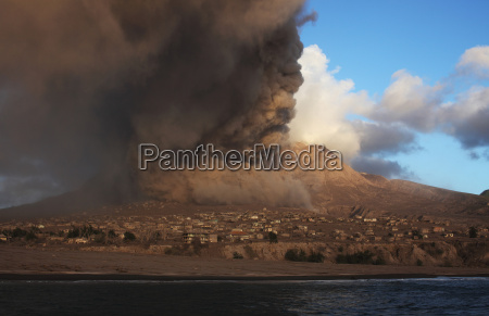 plymouth montserrat caribbean pyroclastic flow from