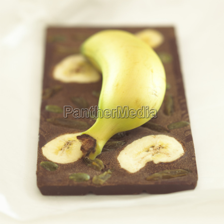 chocolate with banana flavour close up