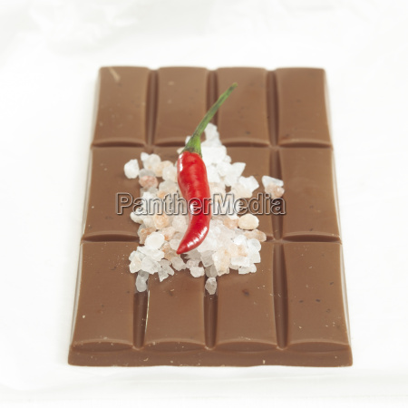 chocolate with chilli and seasalt flavour