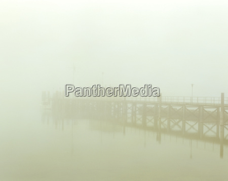 foggy landing place hagnau bodensee germany