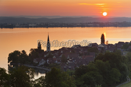 switzerland berlingen view of village with