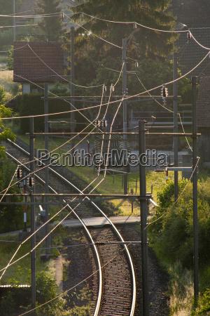 switzerland berlingen view of railway track