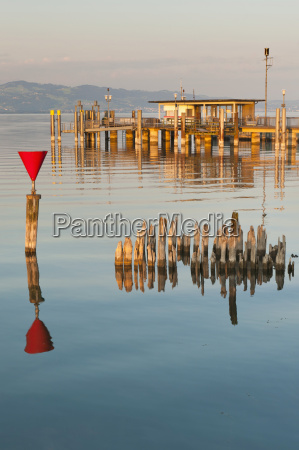 germany wasserburg view of jetty with