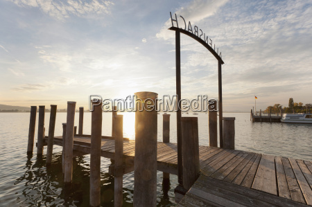 germany, , allensbach, , view, of, jetty, and - 21183813