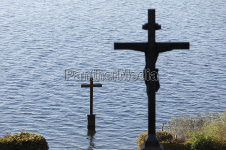 germany upper bavaria lake starnberg cross