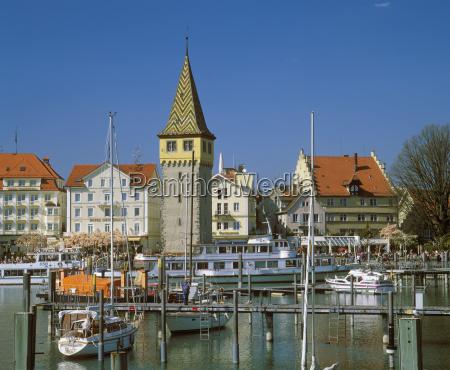 germany bavaria swabia lindau view of