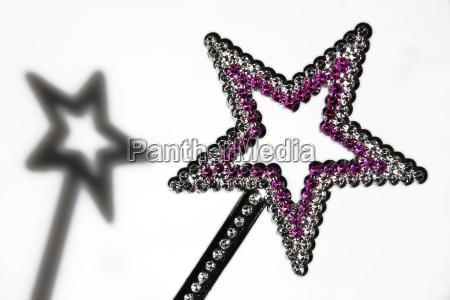 star shaped wand close up