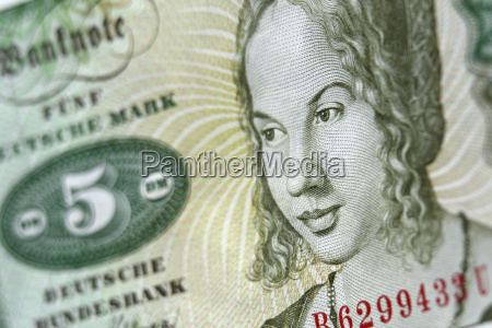 bank note close up