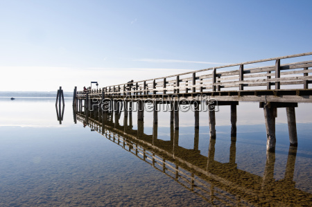 germany bavaria jetty in ammersee