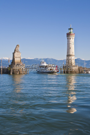 germany baden wurttemberg lindau view of