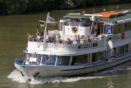 deutschland baden wuerttemberg stuttgart ausflugsboot