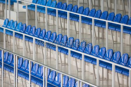 siddepladser i sport stadium close up