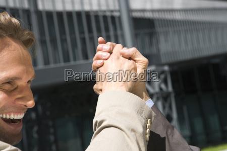 germany baden wuerttemberg stuttgart handshake