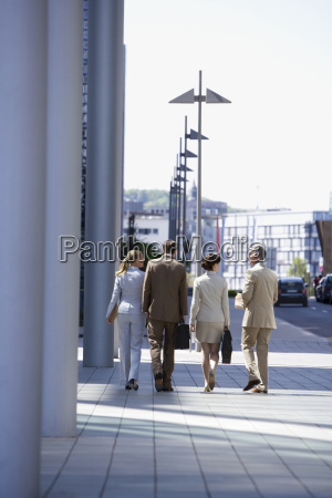 germany baden wuerttemberg stuttgart businesspeople walking