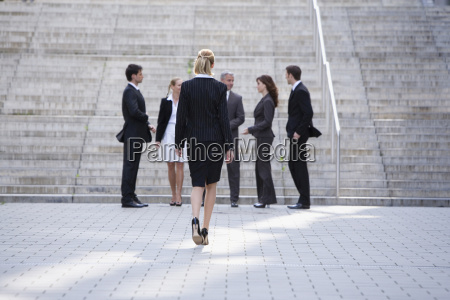 germany baden wuerttemberg stuttgart businessswoman walking