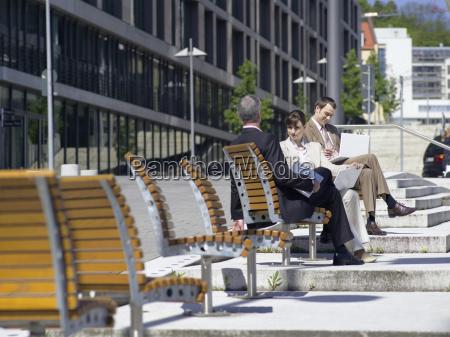 germany baden wuerttemberg stuttgart businesspeople sitting