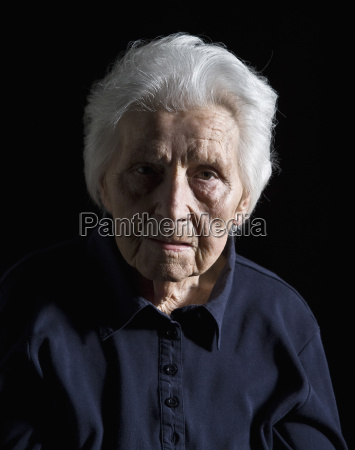 portrait of senior woman close up