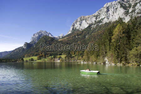 germany bavaria boat in lake