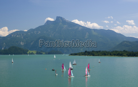 austria view of sailing boat in