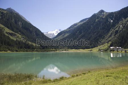 austria wildgerlostal valley mountain lake
