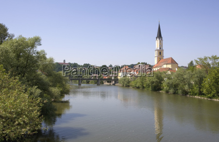 germany bavaria vilshofen city view