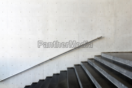 details of railing and stairs of