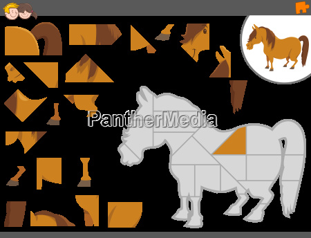jigsaw puzzle game with pony