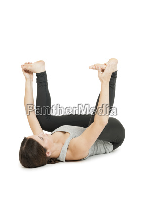 yoga woman grayanada balasanaspread wide