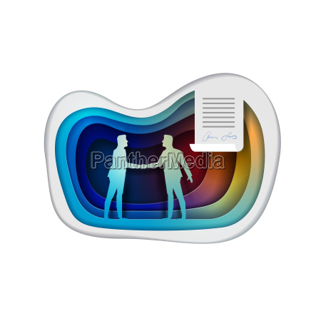 business agreement concept vector illustration