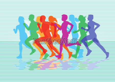 a group of runners in the