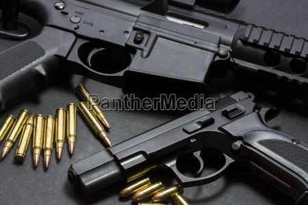 guns with ammunition