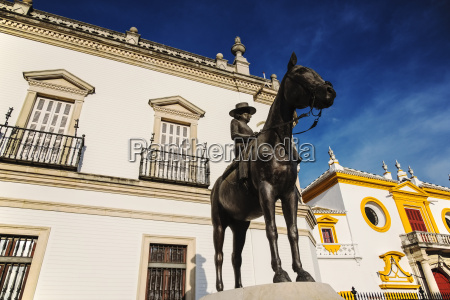 spain seville equestrian statue of augusta