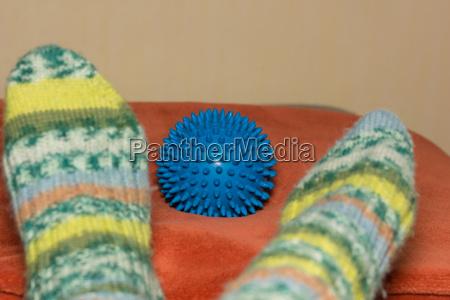 knitted socks