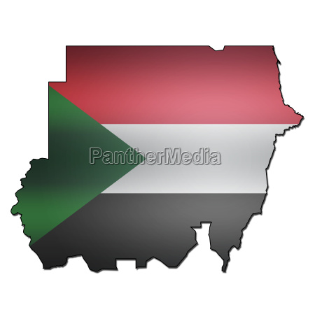 sudan territory with flag