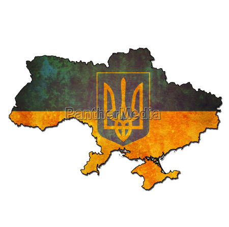 ukraine territory with flag