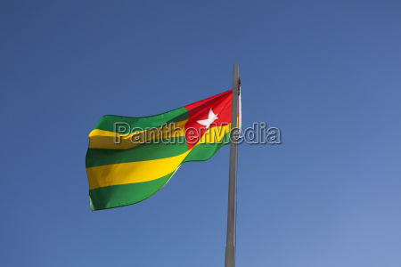 national flag of togo on a