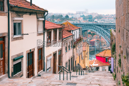 old houses and stairs in ribeira