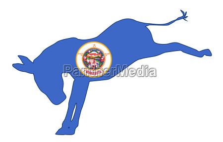 minnesota democrat donkey flag