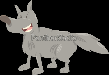 wolf cartoon animal character