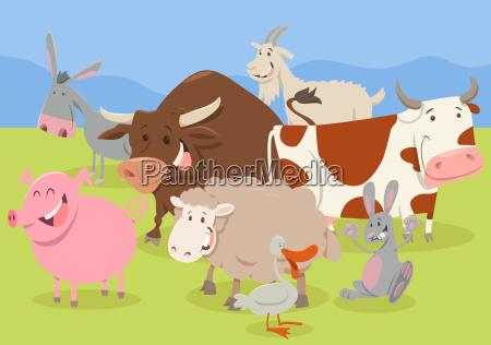 cute farm animal characters