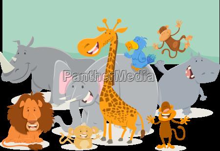 safari animal characters group