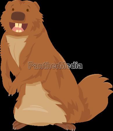 cartoon gopher animal character