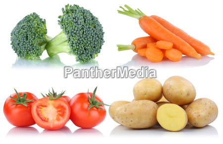 vegetable tomato potatoes carrots carrots collage