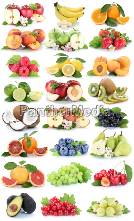 fruits apple orange berries banana oranges
