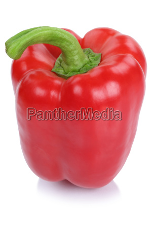 peppers red fresh vegetables sideways isolated