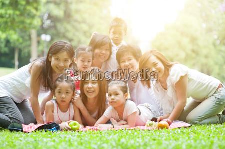 asian multi generations family portrait