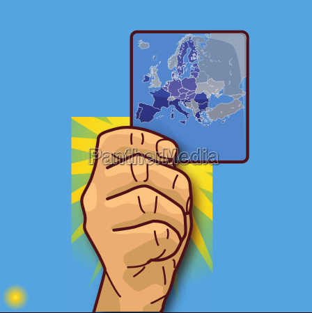 hand shows a map with the