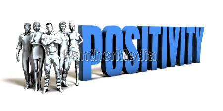 positivity business concept