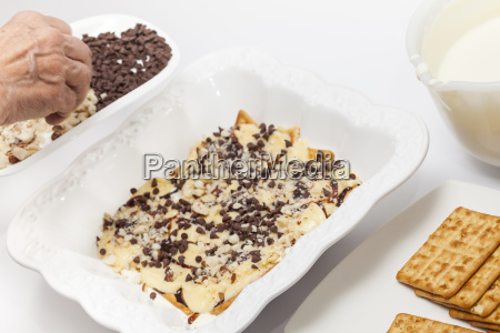 adding chocolate chips and nuts for