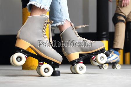 roller skates woman on roller skates